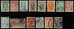 Small Collection Of Vintage Used Stamps From Greece