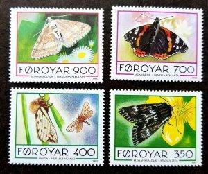 Faroe Islands Butterflies & Moths 1993 Flower Flora Fauna Insect (stamp) MNH