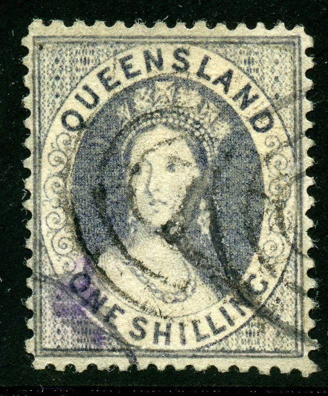 AUSTRALIA QUEENSLAND SCOTT# 17 FINELY USED QUEEN VICTORIA CAT VAL AS SHOWN