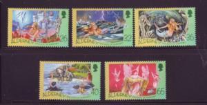 Alderney Sc 245-9 2005 H C  Andersen stamps mint NH