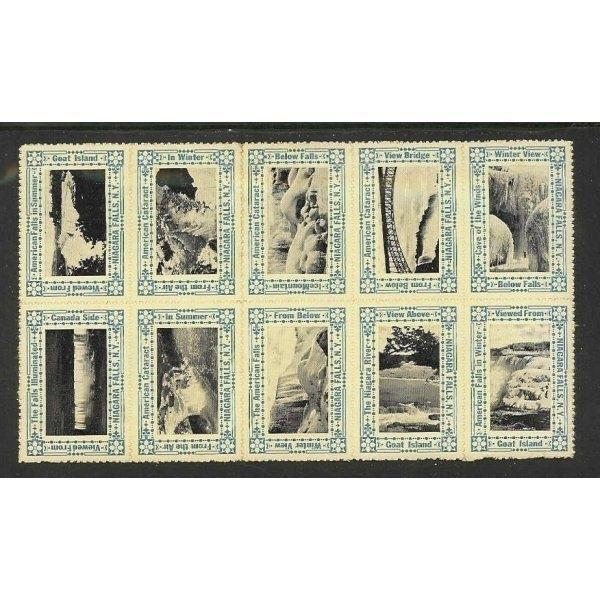 US - Niagra Falls NY Scenic Photo Poster Stamps