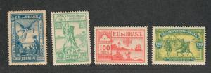 Brazil Sc#162-165 M, Partial Set, 164 Is NH, Cv. $29 LH