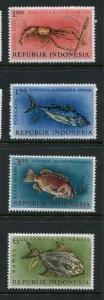 Indonesia #589-92 Mint