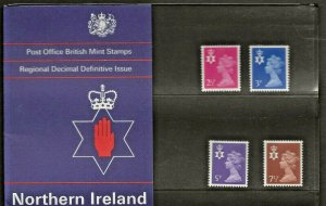 1971 NORTHERN IRELAND MACHIN COUNTRY DEFINITIVE PRESENTATION PACK 29
