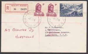 PAPUA NEW GUINEA 1964 Registered cover ex MOUNT HAGEN .Relief No.1 cds......M762