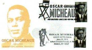 6° Cachets 4464 Oscar Micheaux Dual Cancel NYC & Harlem Adam Clayton Powel Stat