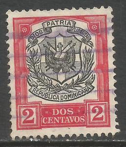 DOMINICAN REPUBLIC 180 VFU ARMS N618-6