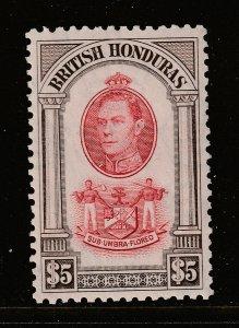 British Honduras a KGVI LHM $5