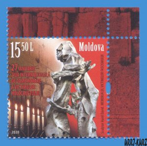 MOLDOVA 2020 International Day of Holocaust Victims Memory Monument 1v Mi1129 MN