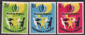 Trinidad & Tobago 1968 QE2 Human Rights Year  Umm SG 331 - 333 ( M992 )