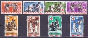 Ghana. 1963. 44A-51A. Red Cross. MVLH.