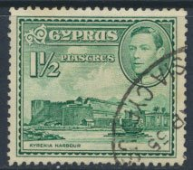 Cyprus  SG 155ab SC# 165  Used   Kyrenia  Harbour  see detail and scan