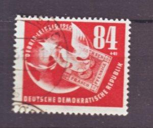 J22445 Jlstamps 1950 germay ddr set of 1 used #b21 dove