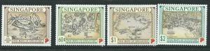 SINGAPORE SG828/31 1996 MAPS  MNH