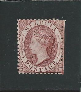 ST LUCIA 1863 (1d) LAKE WMK REVERSED MM SG 5ax CAT £70