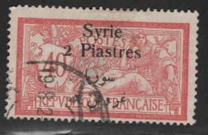 Syria Scott 152 Used Syria overprint on Fench stamp
