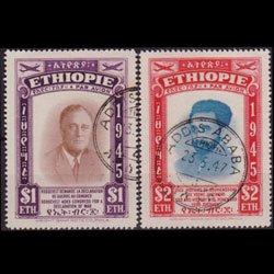 ETHIOPIA 1947 - Scott# C21-2 Leaders Set of 2 Used