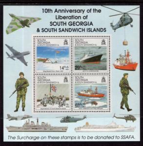 South Georgia B4a Souvenir Sheet MNH VF