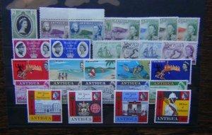 Antigua 1953 1969 Nelson Stamp Centenary Royal Visit Harbour Tourism etc MNH