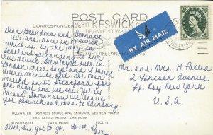 Keswick, Cumberland, Great Britain Post Card 1995?, Fancy Cancel, Lake District