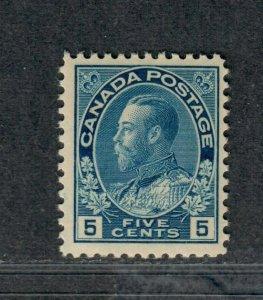 Canada Sc#111 M/NH/F-VF, Cv. $450