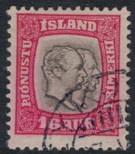 Iceland #O36  CV $40.00