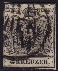 Austria - 1854 - Scott #2c - used - Coat of Arms