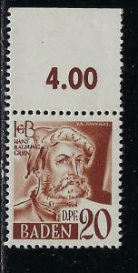 Germany - under French occupation Scott # 5N21, mint nh
