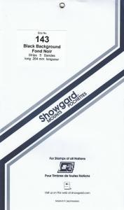 SHOWGARD BLACK MOUNTS 264/143 (5) RETAIL PRICE $11.95
