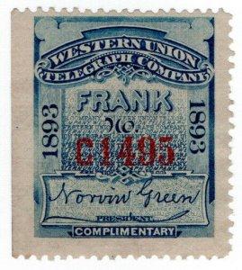 (I.B) USA Telegraphs : Western Union (1893)