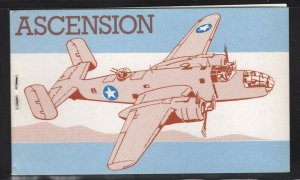 Ascension 1982 60p World War II Airplane booklet SG# SB4B NH