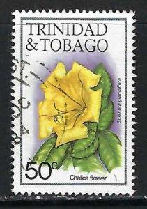 TRINIDAD & TOBAGO 398 VFU FLOWERS 1066G