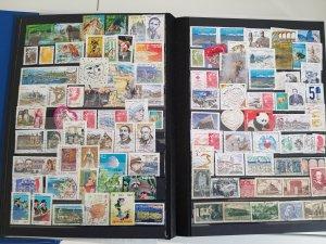 Lot France 100 stamps used/unused