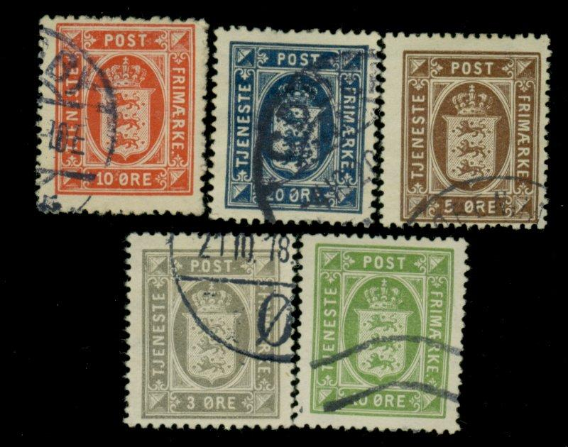 Denmark #O17 20-22 O24 Used F-VF Cat$74.75