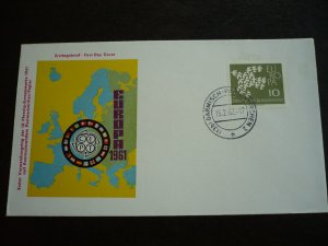 Europa 1961 - Germany - Fluorescent Issue - First Day Cover