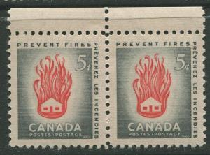 STAMP STATION PERTH Canada #364 House on Fire 1956 MNH Horiz. Pair  CV$0.75