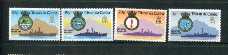 Tristan da Cunha MNH 216-9 Naval Ships & Crests