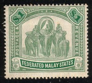MALAYA FMS 1904 $1 SG48 fine mint, lightly hinged..........................10483