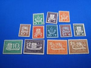 GERMANY - SOVIET ZONE LOCAL STAMPS - SPREEWALD - Mi # 1-12  -   MLH      (kb)