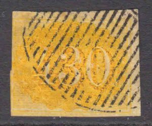 BRAZIL 40 GRILLE CANCEL F-VF SOUND $160 SCV RICH COLOUR @@@