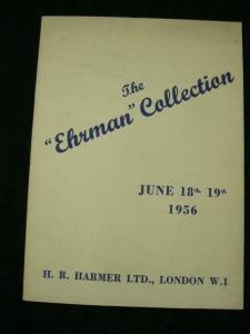 HR HARMER AUCTION CATALOGUE 1956 THE 'EHRMAN' WORLD COLLECTION