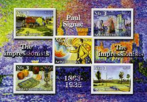 ERITREA 2002 Paul Signac Paintings Sheet Perforated Mint (NH)