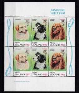 New Zealand MNH S/S Dogs Health 1982