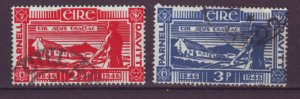 J20727 Jlstamps 1946 ireland set used #133-4 farmer