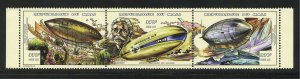 Mali 905 a-c  MNH Zeppelin Airship Strip from 1997