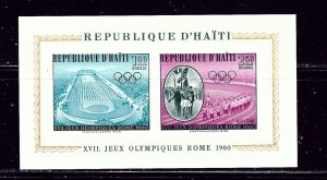 Haiti C165a MNH 1960 Olympics S/S