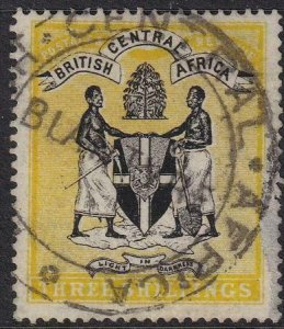 British Central Africa 1895 SC 27 Used SCV$ 65.00