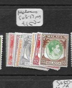 MALAYA MALACCA (PP0109B) KGVI SG 3-17  MOG