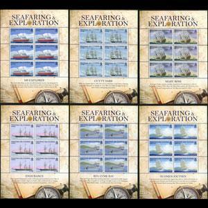 TRISTAN DA CUNHA 2009 - Scott# 857-62 Sheets-Ships NH