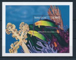 [28293] Sierra Leone 1999 Marine Life Purple Fire Fish MNH Sheet